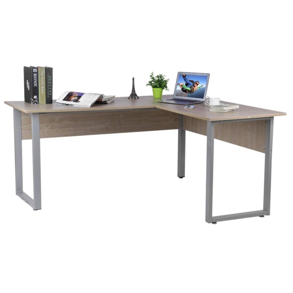 Высокая устойчивость к царапинам покрытие L-Форма персональный компьютер стол для ноутбука просторная рабочая зона Ho Применение держать оф...