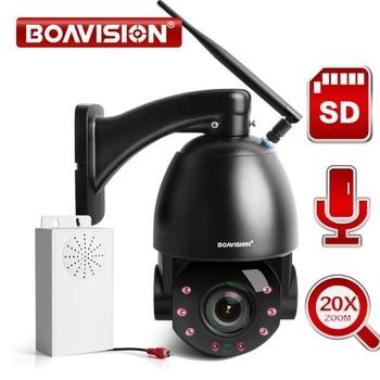 1080P inalámbrico domo PTZ IP Cámara WIFI exterior 20X Zoom óptico CCTV seguridad Video cámara Audio altavoz 80m IR 25fps IP PTZ Cam
