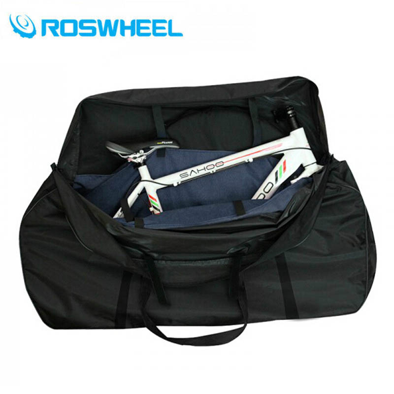ROSWHEEL Bike Carrier Bag Bicycle Carry Bag Package For MTB Bike Road Bike Bags Accessories Waterproof roswheel 50l bicycle waterproof bag retro canvas bike carrier bag cycling double side rear rack tail seat trunk pannier two bags