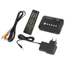 DC 5 В 2A HD 1080P USB HDMI медиаплеер коробка SD/MMC ТВ видео SD MMC RMVB MP3 Мульти ТВ с ИК-пультом дистанционного управления