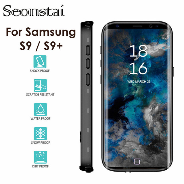 best service fcdbc a25b3 US $13.22 30% OFF|Water Resistant Case For Samsung Galaxy S9 Sealed Diving  Resistant Outdoor Shell for Galaxy S9 Plus ip68 Waterproof Cover-in Fitted  ...