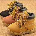 Zapatos de los niños muchachas de los muchachos caliente baja corto botas de moda Martin botas de Invierno Otoño niños niños bebés zapatos