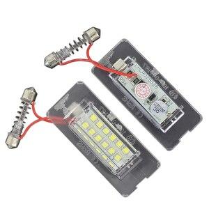 2 шт. CanBus светодиодный светильник номерного знака без ошибок для BMW Mini Cooper R56 R57 R58 R59 без ошибок яркий белый номер лампы