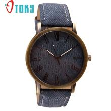 watch stylish men Retro Vogue WristWatch Cowboy Leather Band Analog Quartz Watches Ma29 Dropshipping