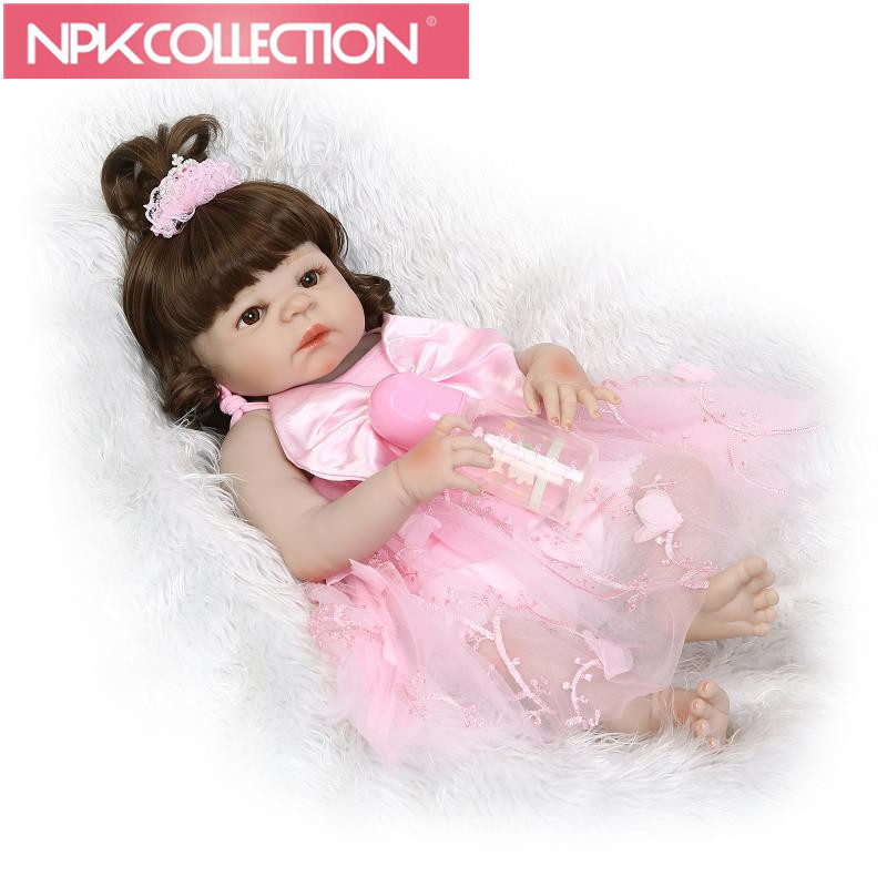 57 cm Reborn Dolls Full Silicone Vinyl 23'' Girl Realistic Babies Toys For Christmas Gifts Lifelike Princess Newborn Doll N170-2 christmas gifts in europe and america early education full body silicone doll reborn babies brinquedo lifelike rb16 11h10