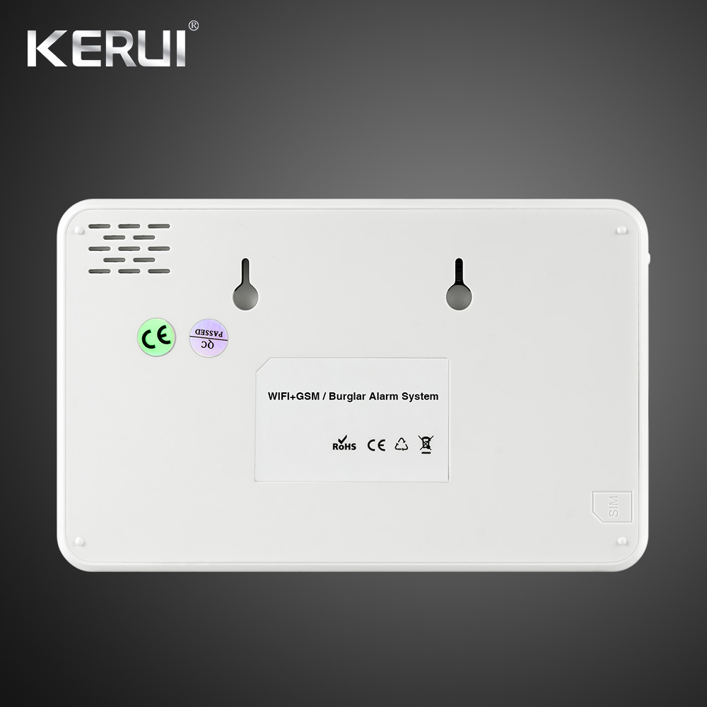 2019 Kerui W18 Wireless Wifi GSM IOS Android APP Control Auto Dial LCD GSM SMS Burglar Alarm System For Home Security