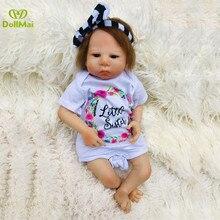 """Bebes reborn realista muñeca 19 """"46 cm silicona reborn baby dolls para niña niño Regalo de Cumpleaños bb reborn bonecas l o l de la muñeca"""