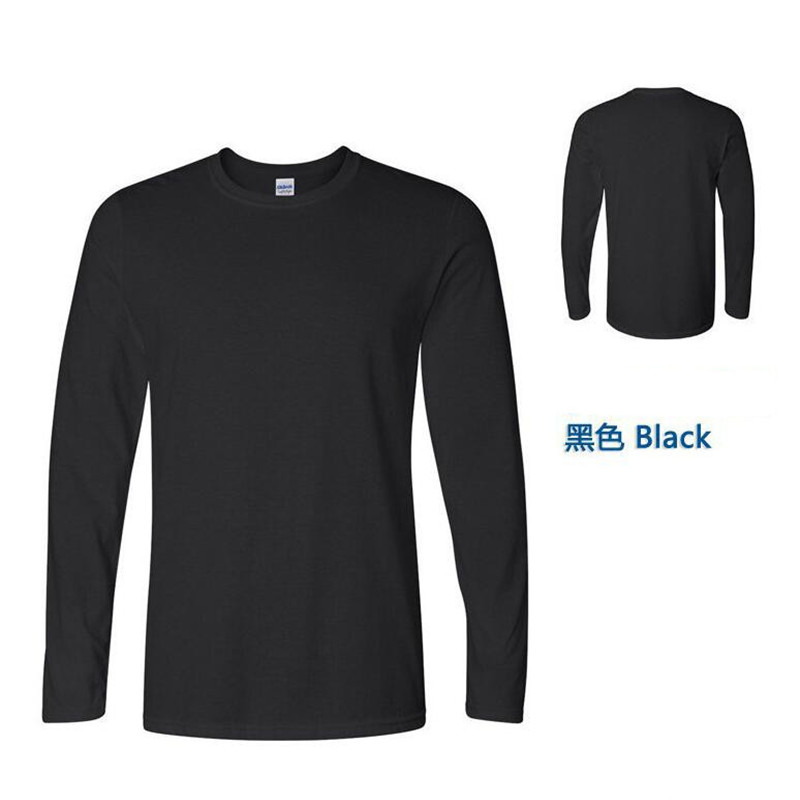 2018 leader of sales; new spring high elastic cotton shirt men's long sleeve o neck t-shirt free mail delivery in asia and china