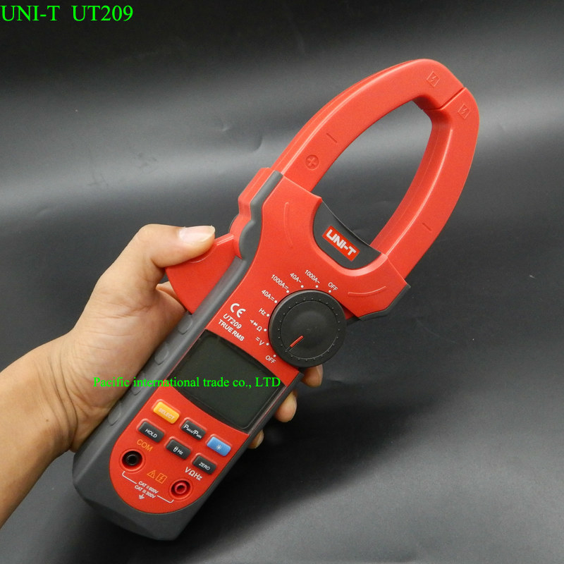 1000A Digital Clamp Meter Multimeter UNI-T UT209 Professional True-RMS LCD  Ohm DMM DC AC Voltmeter AC Ammeter Data Hold
