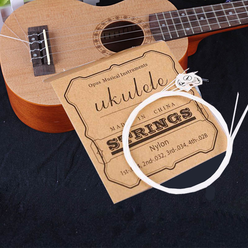4 Pcs/set Ukulele Strings Replacement Part For 21 Inch 23 Inch 26 Inch Stringed Instrument Ukulele Nylon Strings