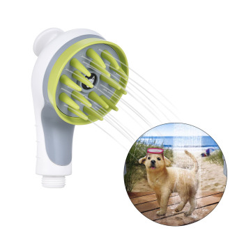 Pet Sprayer Shampoo Water Saver Bath Head Spray-head Puppy Dogs Cats Wash Grooming Bathing Massage Brush Handheld Shower 1