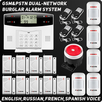 IOS Android APP Quad Band Touch Keypad TFT Dislay Wireless GSM PSTN House Security Voice Burglar
