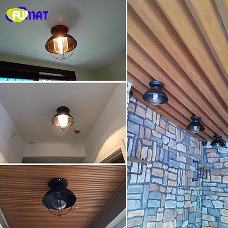 FUMAT стеклянный потолочный светильник, скандинавский балкон, потолочный светильник для крыльца, прохода, гардеробный светильник, черный, для... - 5