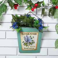 Wrought Iron Flower Pot Wall Hanging Basket Pastoral Container Creative Gifts Garden Supplies