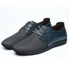 2017 Nuevos hombres de la Llegada Zapatos de Ocio Transpirable Zapatos de Malla de Aire De Verano