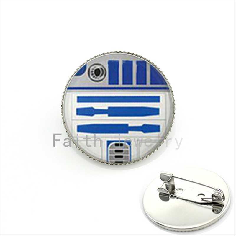 Броши Star Wars R2D2 модная брошь из фильма для мальчиков и девочек Подарки булавка пряжка посеребренные Броши KC170