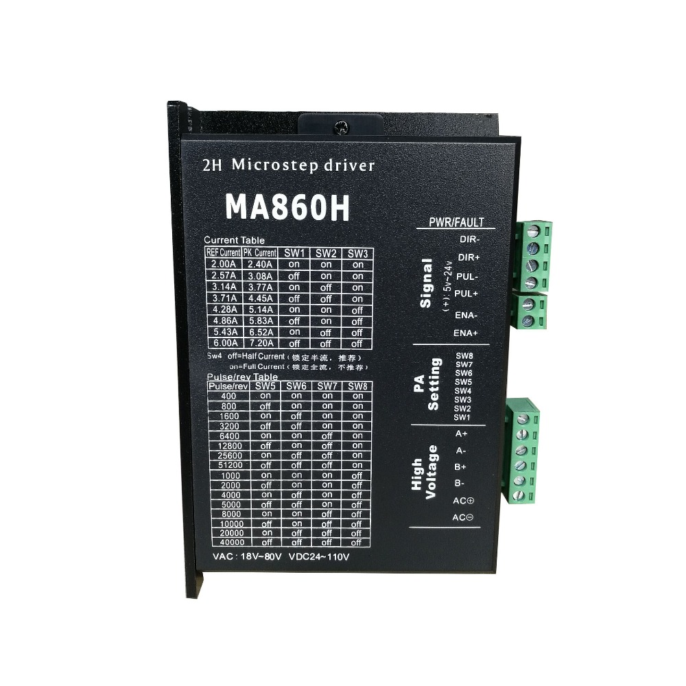 MA860H NEMA34 Stepping Motor Driver spot goods  Two phase 86 Stepper Motor ControllerMA860H NEMA34 Stepping Motor Driver spot goods  Two phase 86 Stepper Motor Controller