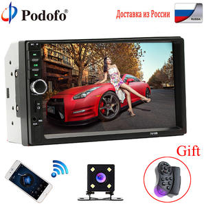 "Podofo 2 Din Car Radio Bluetooth 2din Car Multimedia Player 7"" HD Touch Autoradio MP5 USB Audio Stereo With Rear View Camera"