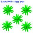 5045 CW/CCW 5045  Props for kit 200-320 5 pairs FPV 6-blade propeller