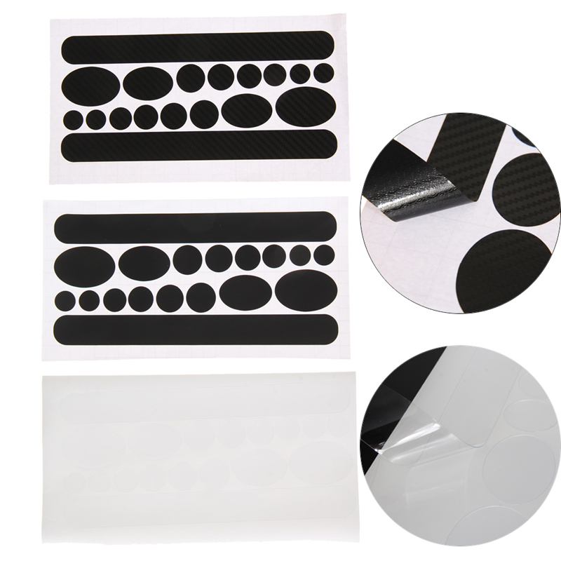 Bicycle Stickers Chain Stay Frame Protector Kit 12 Round Patches Bike Stickers Anti Chai ...