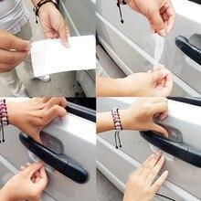 4 Sheets Adhesive Car Door Handle Scratches Film Guard Shakes Protector