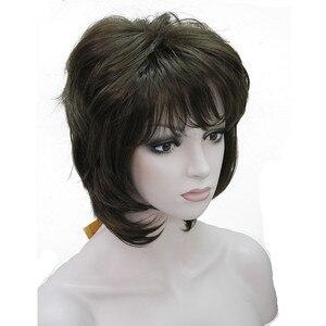 Image 4 - StrongBeauty נשים סינטטי פאה קצר שיער ערמוני/בלונד טבעי פאות בלי כומתה שכבות תסרוקות