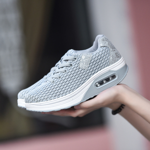 Image 3 - MWY Women Breathable Mesh Casual Shoes Height Increased Shoes Outdoor Walking Sneakers Zapatillas De Mujer Lace Up Women Shoes