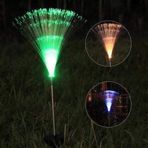 Image 2 - Outdoor Glasvezel Gazon Licht Novelty Zonne energie Kleur Veranderende Led Night Tuin Decoratieve Lamp