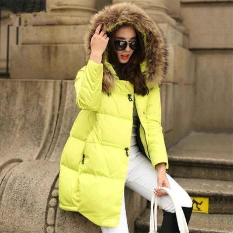 Pour Feminino Épaississement Hiver D'hiver light Coton Pc Manteau white Z006a Capuche Rose Chaquetas Inverno À 1 grey lemon Parka Femmes Black Casacos Mujer Veste Yellow De fZ88x0