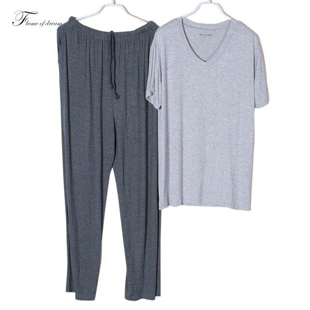 Modal material  Pijamas Hombre Nightwear Man Pijamas Hombres Pajamas Men Men Pajama Man Clothing Set d115