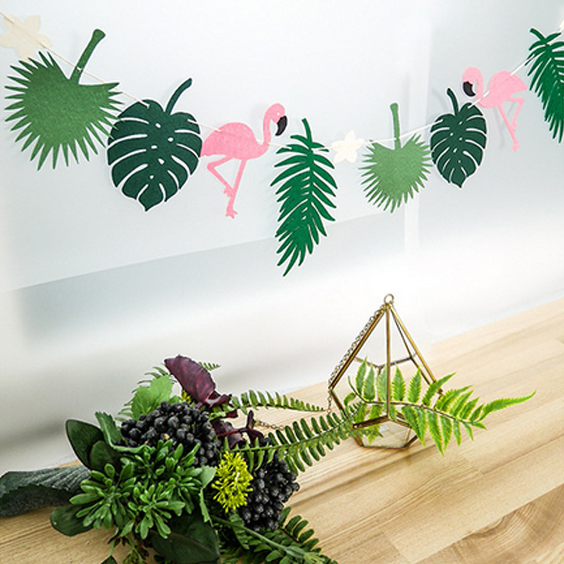 New arrival flamingo and pineapple banner bunting summer for How to make luau decorations at home