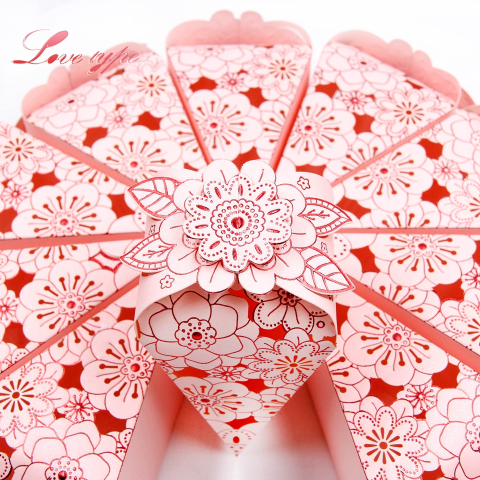 10pcs/lot Romantic Wedding Candy Box Pretty Flower Paperboard Crafts ...