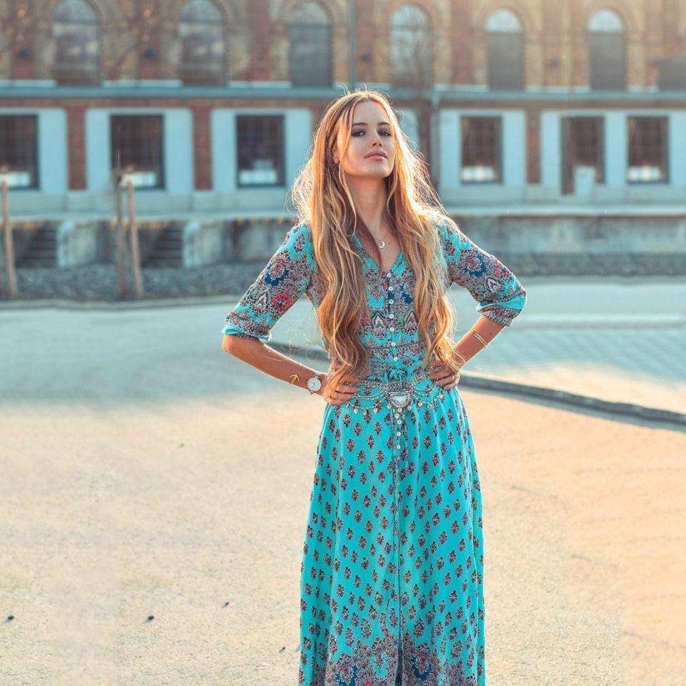 Chic Brand Clothing Boho Dress Women 2018 Bohemian Long