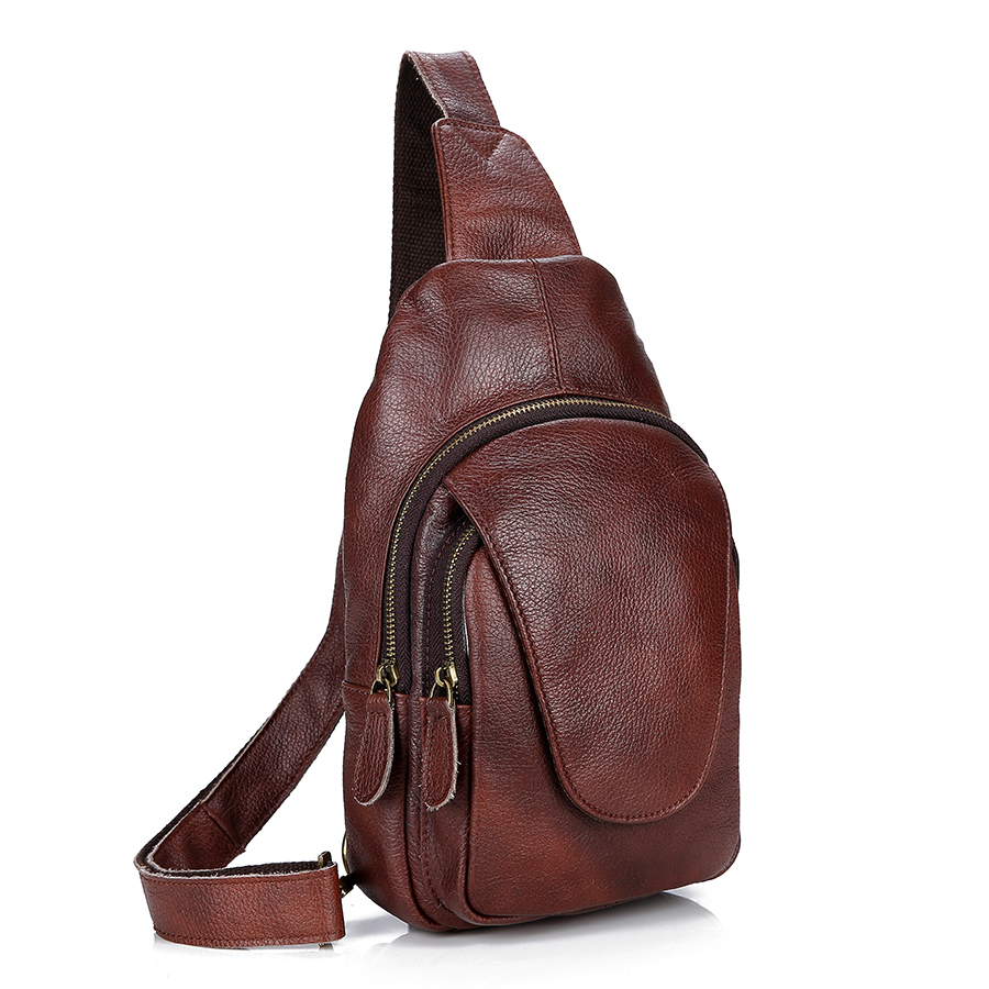 0ed05a03d247 QiBoLu 2018 Genuine Leather Sling Bag Men Single Shoulder Bag Men Chest  Pack Messenger Crossbody Bag for Man Sacoche Homme MBA86-in Waist Packs  from Luggage ...