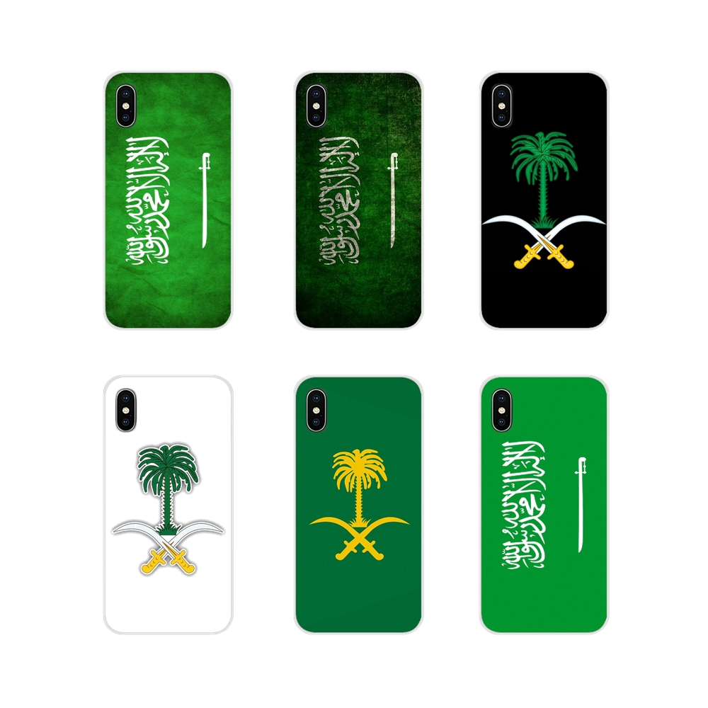 Saudi Arabia National flag emblem For <font><b>Samsung</b></font> Galaxy S3 S4 S5 Mini S6 <font><b>S7</b></font> Edge S8 S9 S10 Lite Plus Note 4 5 8 9 <font><b>Phone</b></font> <font><b>Cases</b></font> Cover image