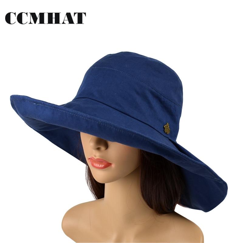 Women's Bucket Hats 2017 Fashion Cotton Adult Fashing Hat Big Bow Decoration Chapeu Foldable Bucket Cap Head Size Adjustable Cap