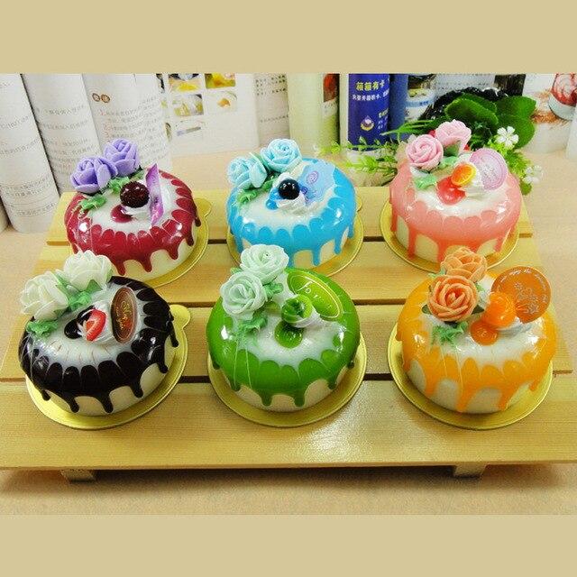 10pcs 10cm wedding Artificial cake mug up flaky pastry circle rose ...