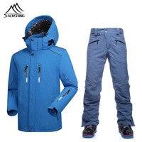 Saenshing Winter Ski Suit Men Windproof Ski Jacket Waterproof Snowboard Pant Breathable Skiing Snowboarding Snow Sets