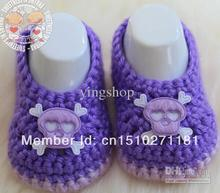 2014 fashion  Popular crochet baby shoes  skull square hand  kid shoes first walker shoes free shipping