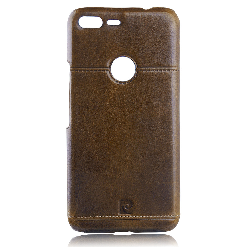 For Google Pixel XL Pierre Cardin Genuine Leather Protective Back Cover Case For Pixel XL Ultra Thin Cellphone Case Cover