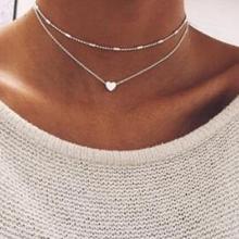 Богемное ожерелье-чокер из сплава в форме сердца новая стильная Очаровательная подвеска ожерелье для женщин винтажное ювелирное изделие