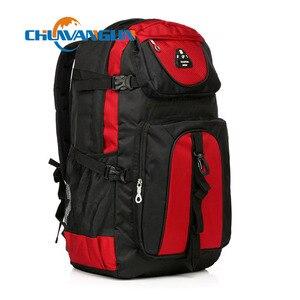 Image 1 - Chuwanglin nouveaux magasins mode chaude hommes sac à dos unisexe en nylon sac de voyage étanche 60L grande capacité sacs pour ordinateur portable S70