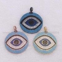 Realistyczne oczy Okrągłe miedzi wisiorek Micro Utorować Sześciennych Cyrkon Mix kolory eyesjewelry oczy Wisiorek Jubilerski wisiorek mody 1981