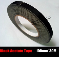 (100mm*30M) Insulation Black Acetate Cloth Tape, High Temperature Resist, LCD Screen Repair