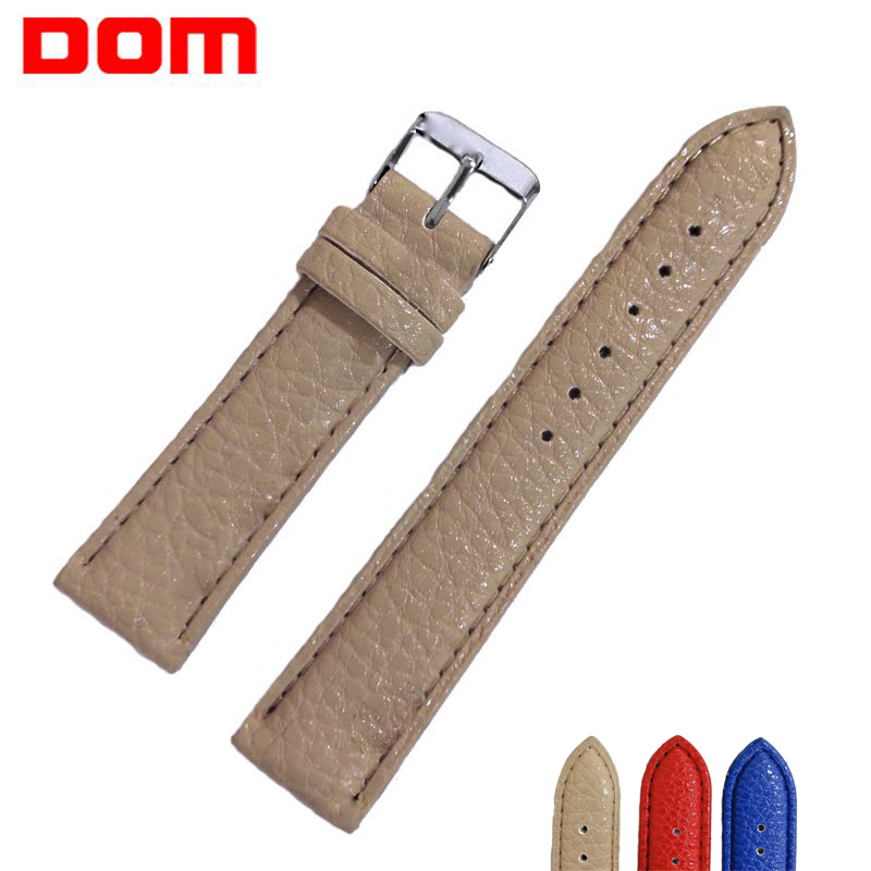 DOM 20mm Watch Strap Women Watch Bracelet Belt High Quality Waterproof Leather Strap Watch Band Watch Accessories Wristband