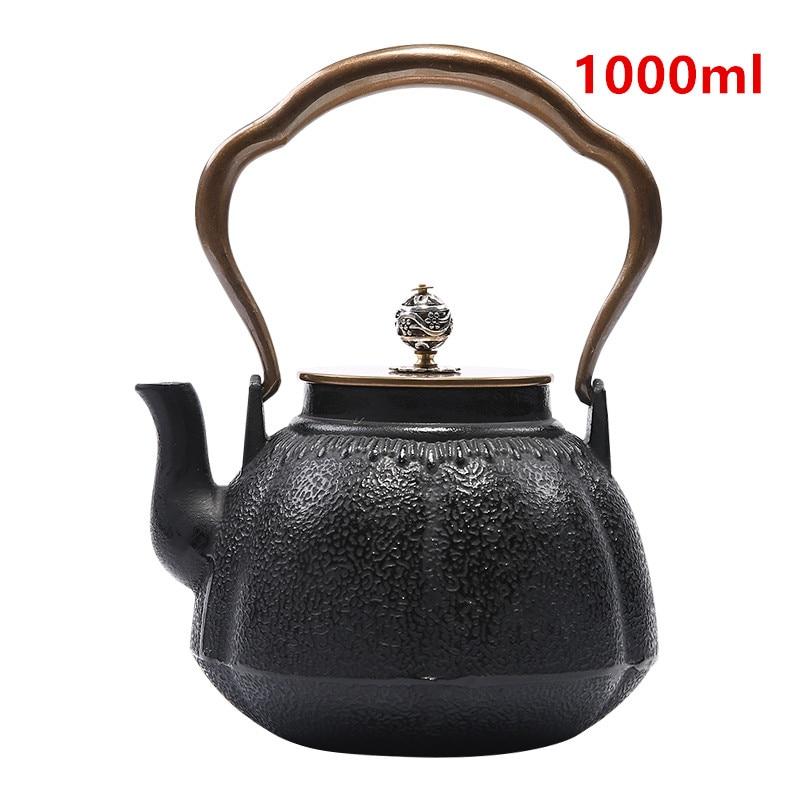 Cast Iron Tea Pot Set Japanese Teapot Tetsubin Kettle Drinkware KungFu Tools Tea Kettle 1000ML Teaware-Y0097Cast Iron Tea Pot Set Japanese Teapot Tetsubin Kettle Drinkware KungFu Tools Tea Kettle 1000ML Teaware-Y0097