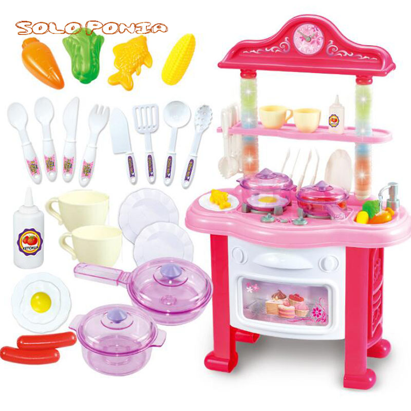 40*65 cm Big Size Baby Miniature Kitchen Plastic Pretend Play Food Children Toys With Music Light Kids Kitchen Cooking Toy Set baby miniature kitchen plastic pretend play food children toys with music light kids kitchen cooking toy set for girls games hot
