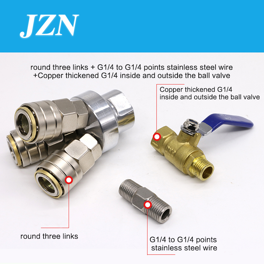 цена на 1 PCS C-type pneumatic quick connector self-locking round three ventilation tube plug male and female air pump air compressor