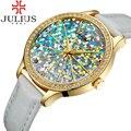 2017 julius marca relógios das mulheres de luxo strass cristal de quartzo-relógio reloj mujer relógio senhora menina relógios de pulso reloj mujer presente