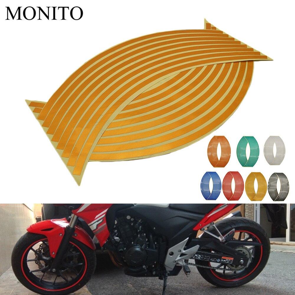 Motorcycle Wheel Sticker 16 17 18 Reflective Decals Rim Tape Strip For HONDA CRF230F XR230 XR250 XR400 CRF 230F XR 250 230